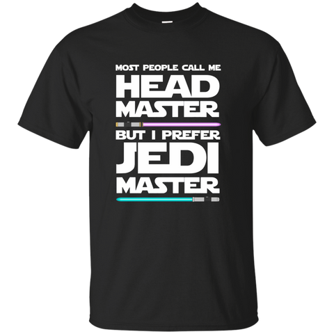 Most People Call Me Head Master But I Prefer Jedi Master Cotton T-Shirt - TeachersLoungeShop - 1