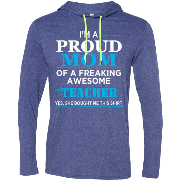 Proud Mom of Freaking awesome Teacher   T-Shirt Hoodie - TeachersLoungeShop - 2