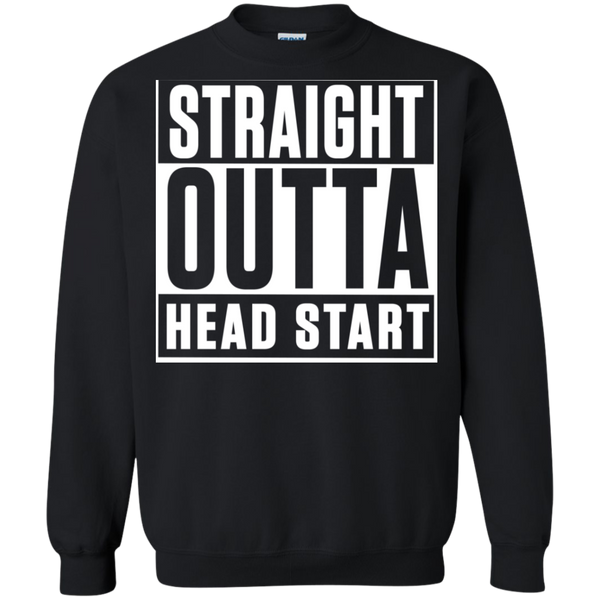 Straight Outta Head Start  Crewneck Pullover Sweatshirt  8 oz - TeachersLoungeShop - 1