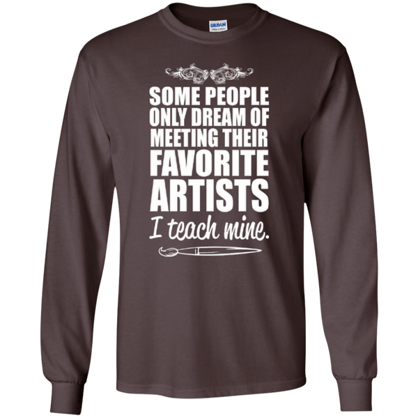 Favourite Artists i Teach Mine LS Tshirt - TeachersLoungeShop - 2