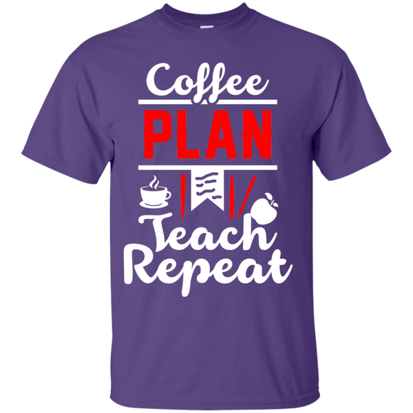 Coffee Plan Teach Repeat  T-Shirt - TeachersLoungeShop - 10