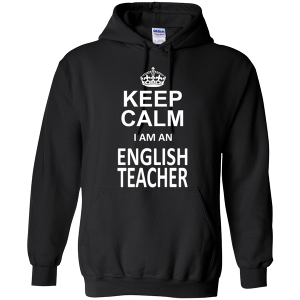 Keep Calm i'm an English Teacher T-shirt Hoodie - TeachersLoungeShop - 6
