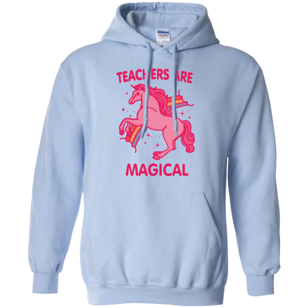 Teachers are Magical Pullover Hoodie 8 oz - TeachersLoungeShop - 8