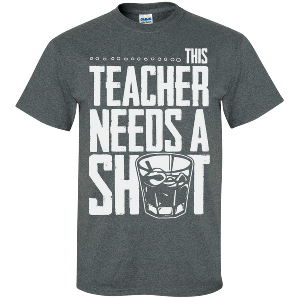This Teacher needs a Shot  Cotton T-Shirt - TeachersLoungeShop - 5