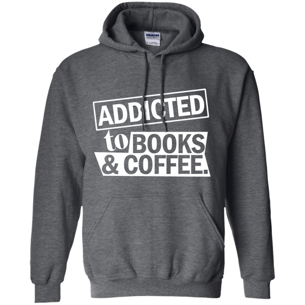 Addicted to Books and Coffee Pullover Hoodie 8 oz - TeachersLoungeShop - 3