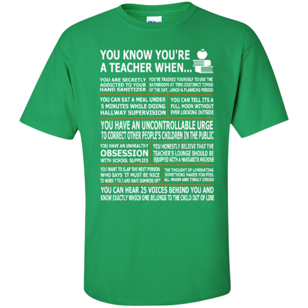 You Know You Are a Teacher When T-shirt Hoodies - TeachersLoungeShop - 5
