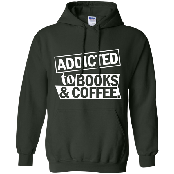 Addicted to Books and Coffee Pullover Hoodie 8 oz - TeachersLoungeShop - 5