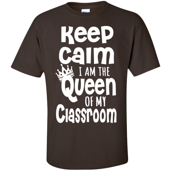 Keep Calm I am the Queen of My Classroom  Cotton T-Shirt - TeachersLoungeShop - 6