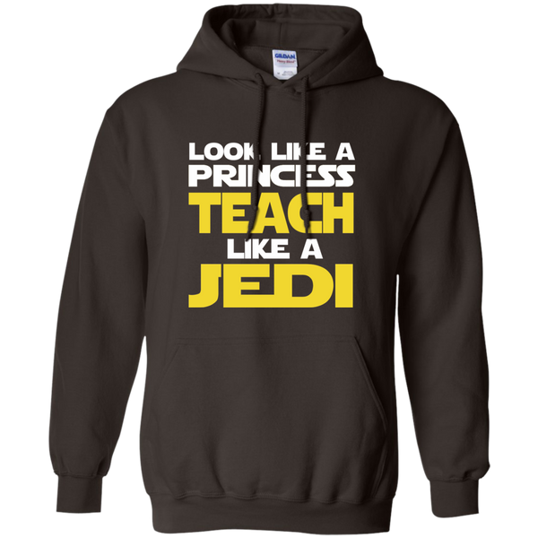 Look Like a Princess Teach Like a Jedi Pullover Hoodie 8 oz - TeachersLoungeShop - 5