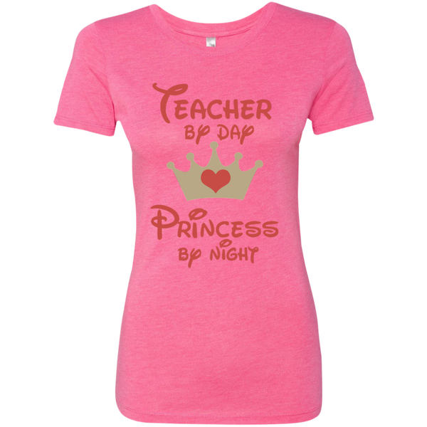 Teacher by Day Princess by Night Next Level Ladies Triblend T-Shirt - TeachersLoungeShop - 6