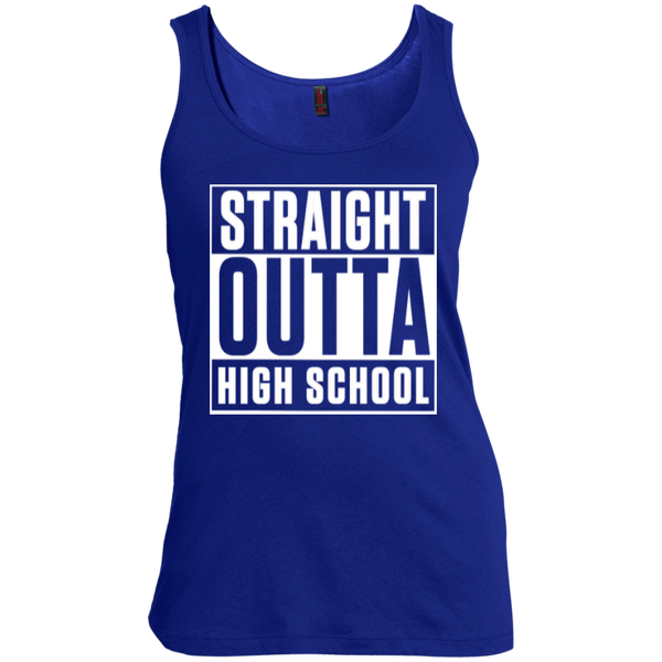 Straight Outta High School Women's Scoop Neck Tank Top - TeachersLoungeShop - 4