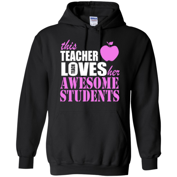 This Teacher Loves her Awesome Students T-shirt Hoodies - TeachersLoungeShop - 7