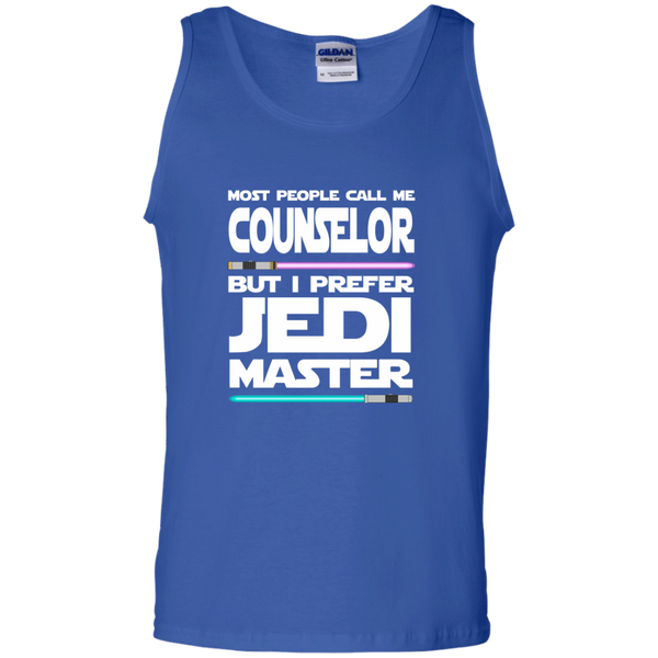 Most People Call Me Counselor But I Prefer Jedi Master 100% Cotton Tank Top - TeachersLoungeShop - 4