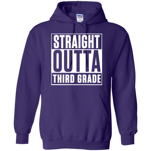 Straight Outta Third Grade  Hoodie 8 oz - TeachersLoungeShop - 10
