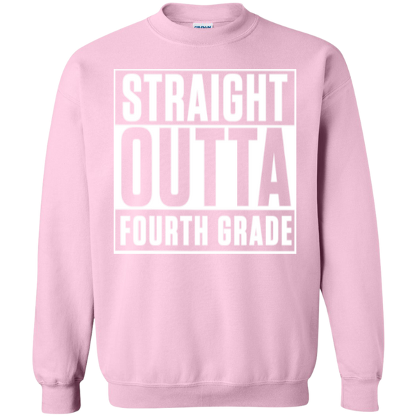 Straight Outta Fourth Grade  Crewneck Pullover Sweatshirt  8 oz - TeachersLoungeShop - 12