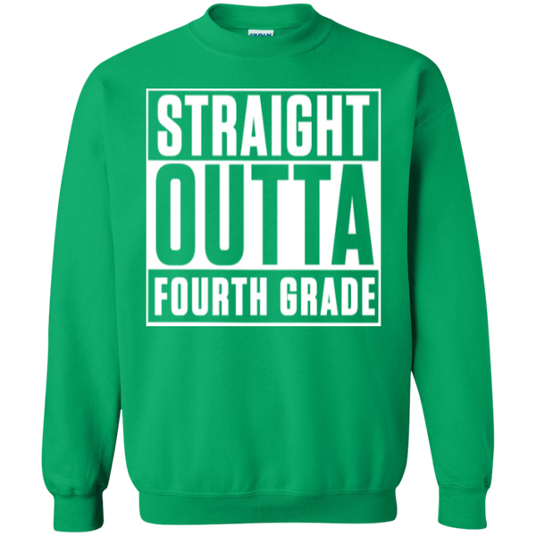 Straight Outta Fourth Grade  Crewneck Pullover Sweatshirt  8 oz - TeachersLoungeShop - 7