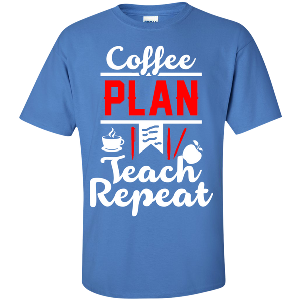Coffee Plan Teach Repeat  T-Shirt - TeachersLoungeShop - 5