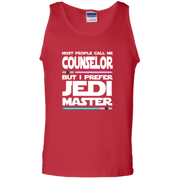 Most People Call Me Counselor But I Prefer Jedi Master 100% Cotton Tank Top - TeachersLoungeShop - 3