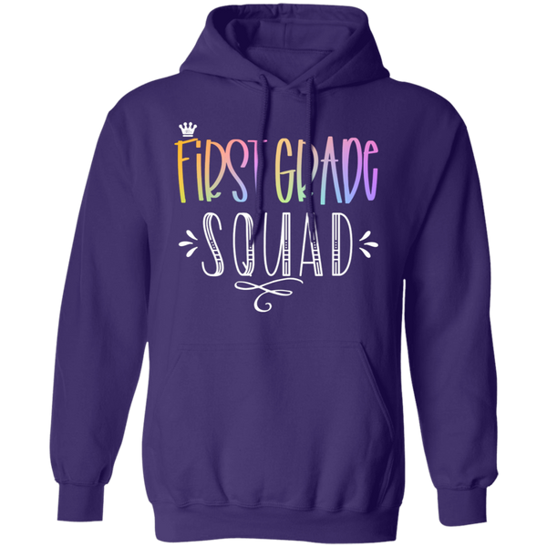 First Grade Teacher Squad. Pullover Hoodie 8 oz.