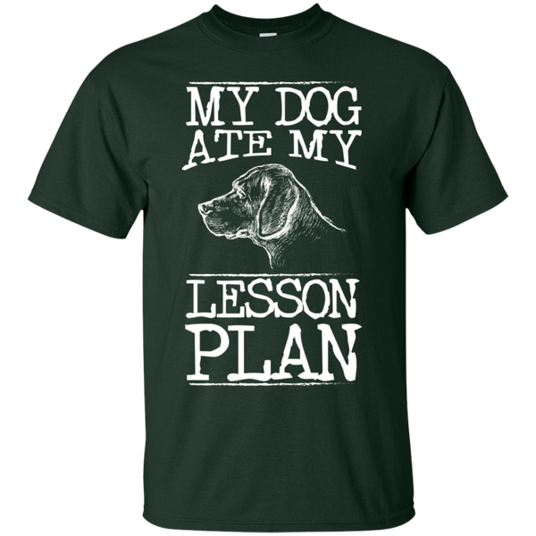 My Dog Ate my Lesson Plan  Cotton T-Shirt - TeachersLoungeShop - 6