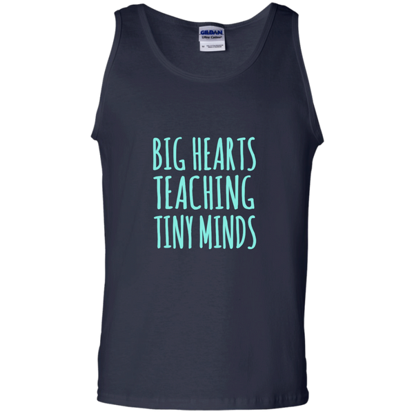 Big Hearts Teaching Tiny Minds 100% Cotton Tank Top - TeachersLoungeShop - 3