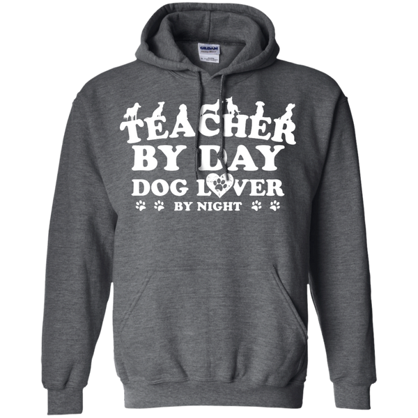 Teacher By Day Dog Lover by Night  Hoodie 8 oz - TeachersLoungeShop - 3