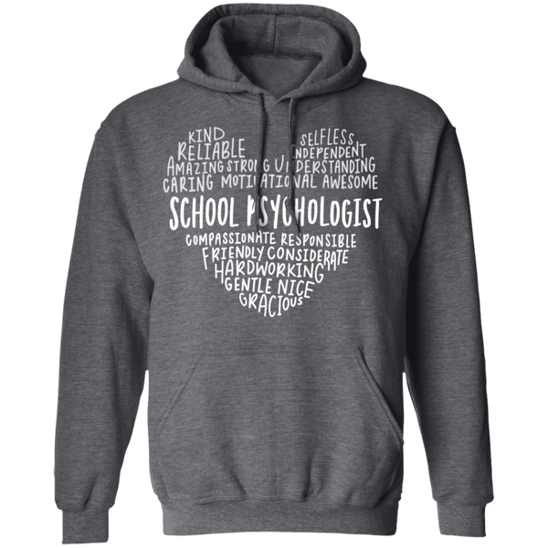 School psychologist Heart saying Pullover Hoodie 8 oz.