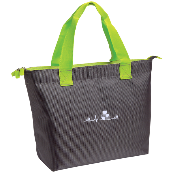 Teacher Heartbeat  Zippered Tote - TeachersLoungeShop - 4