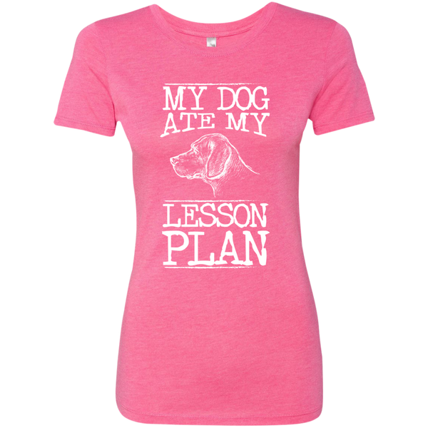 My Dog Ate my Lesson Plan Next  Level Ladies Triblend T-Shirt - TeachersLoungeShop - 4