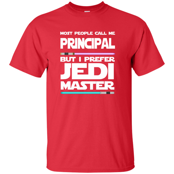 Most People Call Me Principal But I Prefer Jedi Master Cotton T-Shirt - TeachersLoungeShop - 8