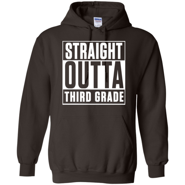 Straight Outta Third Grade  Hoodie 8 oz - TeachersLoungeShop - 4