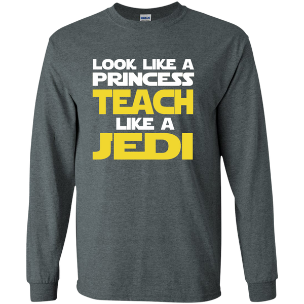 Look Like a Princess Teach Like a Jedi LS Ultra Cotton Tshirt - TeachersLoungeShop - 6