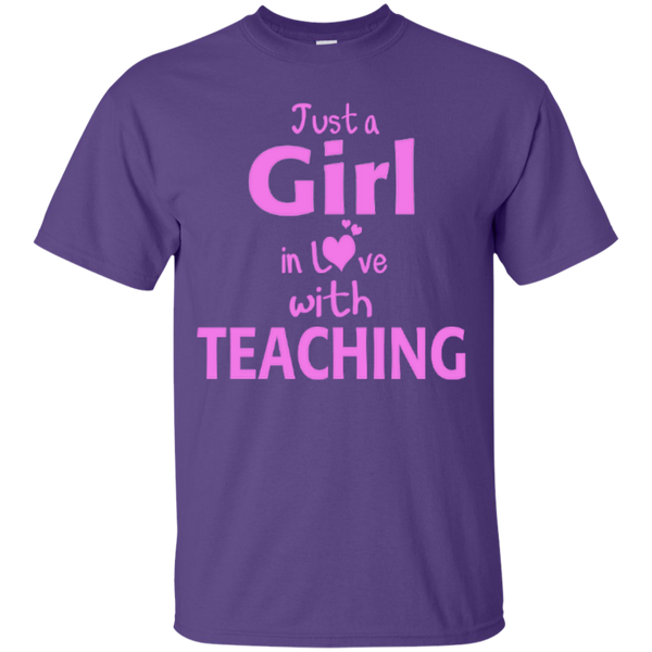 Just a Girl in Love with Teaching T-shirt Hoodie - TeachersLoungeShop - 3