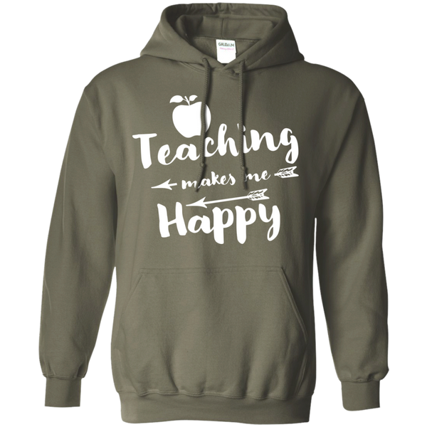 Teaching makes me Happy     Hoodie 8 oz - TeachersLoungeShop - 11