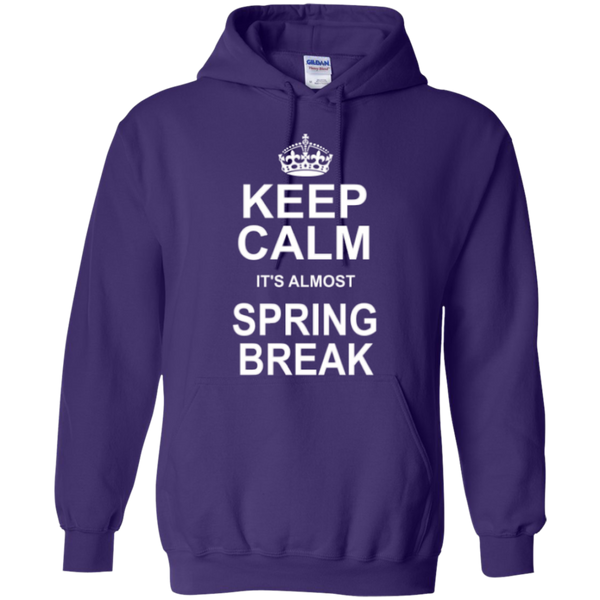 Keep Calm its almost Spring Break Teacher T-shirt Hoodie - TeachersLoungeShop - 11