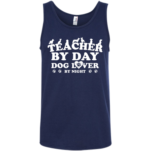 Teacher By Day Dog Lover 100% Ringspun Cotton Tank Top - TeachersLoungeShop - 6