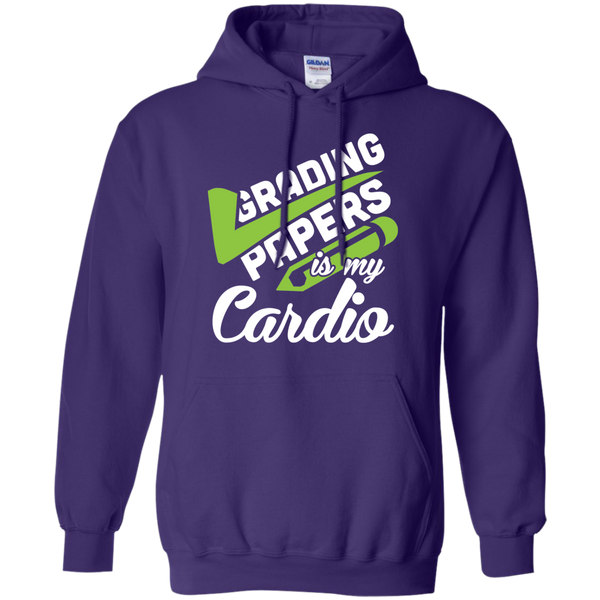 Grading papers is my cardio   Hoodie 8 oz - TeachersLoungeShop - 10