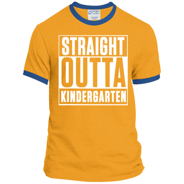 Straight Outta Kindergarten   Ringer Tee - TeachersLoungeShop - 3
