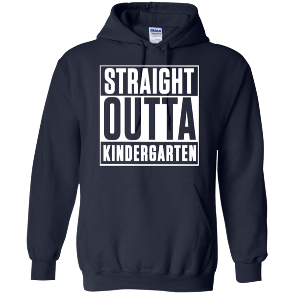Straight Outta Kindergarten Hoodie 8 oz - TeachersLoungeShop - 4