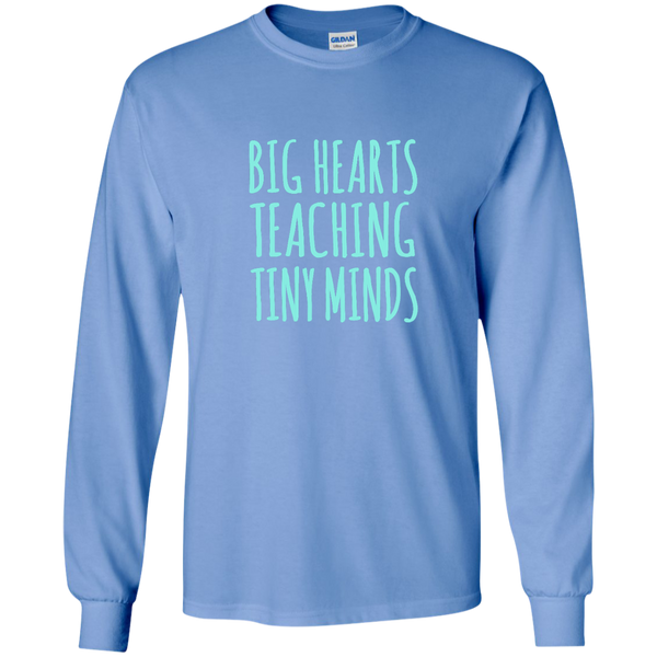 Big Hearts Teaching Tiny Minds LS Ultra Cotton Tshirt - TeachersLoungeShop - 5