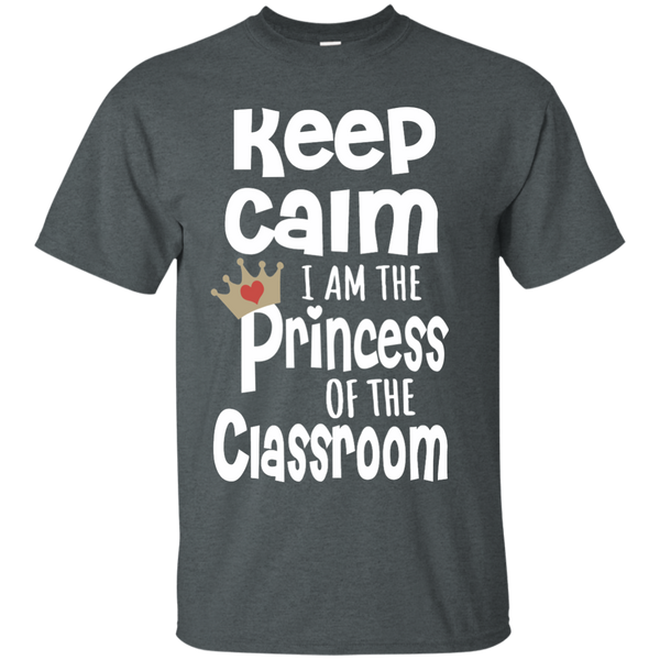 Keep Calm I am the Princess of the Classroom Cotton T-Shirt - TeachersLoungeShop - 6