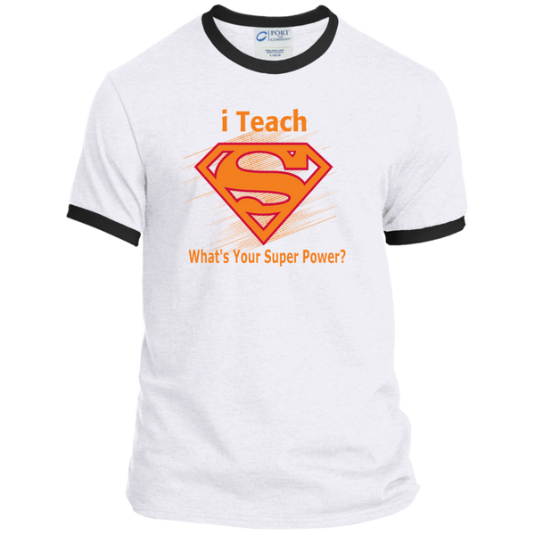 i Teach What's Your Superpower Ringer Tee - TeachersLoungeShop - 3
