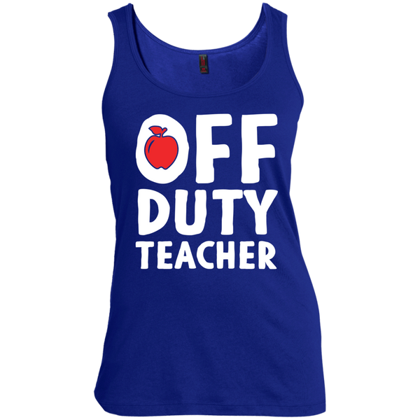 Off Duty Teacher Women's  Scoop Neck Tank Top - TeachersLoungeShop - 5