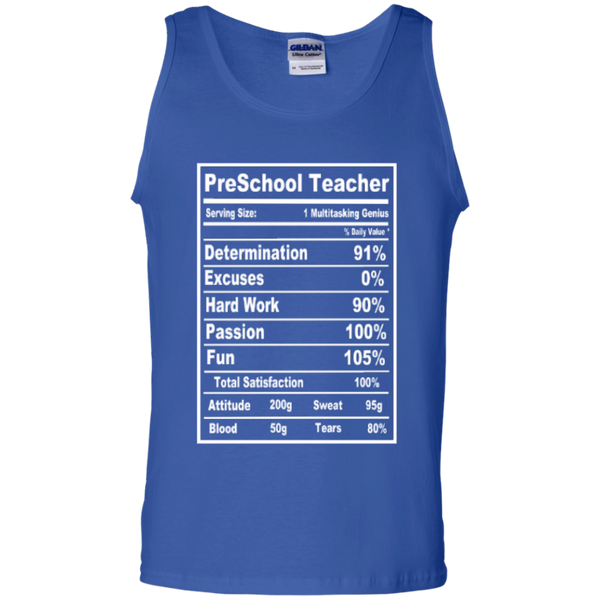 PreSchool Teacher Serving Size Nutrition  100% Cotton Tank Top - TeachersLoungeShop - 4