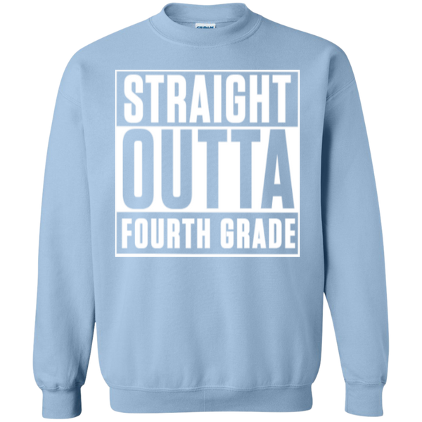 Straight Outta Fourth Grade  Crewneck Pullover Sweatshirt  8 oz - TeachersLoungeShop - 9