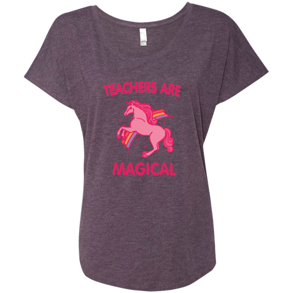 Teachers are Magical Next Level Ladies Triblend Dolman Sleeve - TeachersLoungeShop - 7