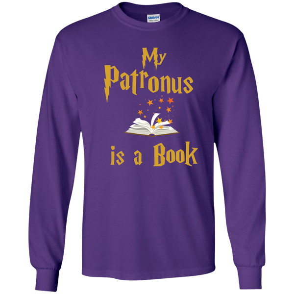 My Patronus is a Book LS Ultra Cotton Tshirt - TeachersLoungeShop - 11