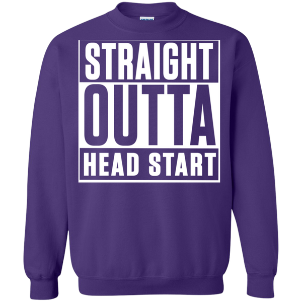 Straight Outta Head Start  Crewneck Pullover Sweatshirt  8 oz - TeachersLoungeShop - 9