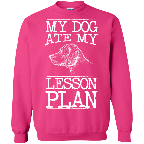 My Dog Ate my Lesson Plan Crewneck Pullover Sweatshirt  8 oz - TeachersLoungeShop - 11
