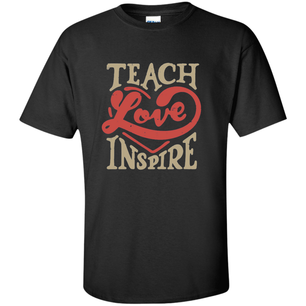 Teach Love Inspire Teacher Cotton T-Shirt - TeachersLoungeShop - 1
